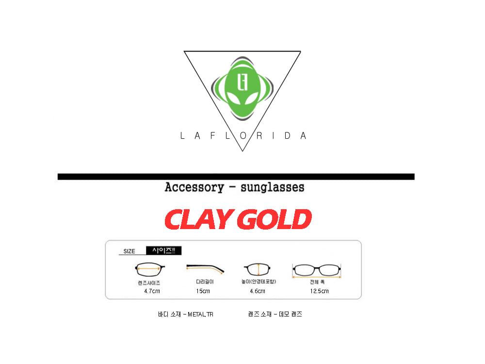 라플로리다(LAFLORIDA) 클레이 골드 반무테 glasses