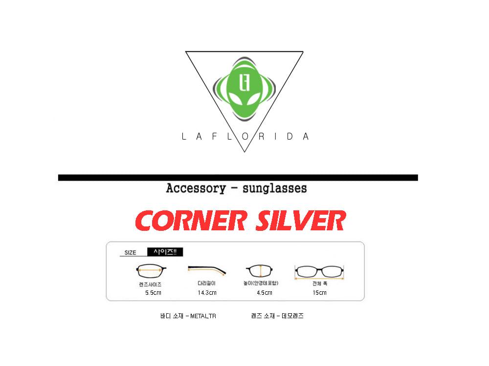 라플로리다(LAFLORIDA) 코너 투브릿지 안경&체인 SET 실버