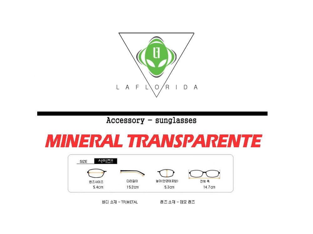 라플로리다(LAFLORIDA) 미네랄 투명 안경 빅프레임