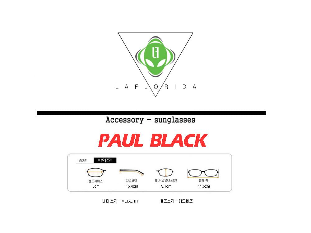 라플로리다(LAFLORIDA) 폴 블랙 안경