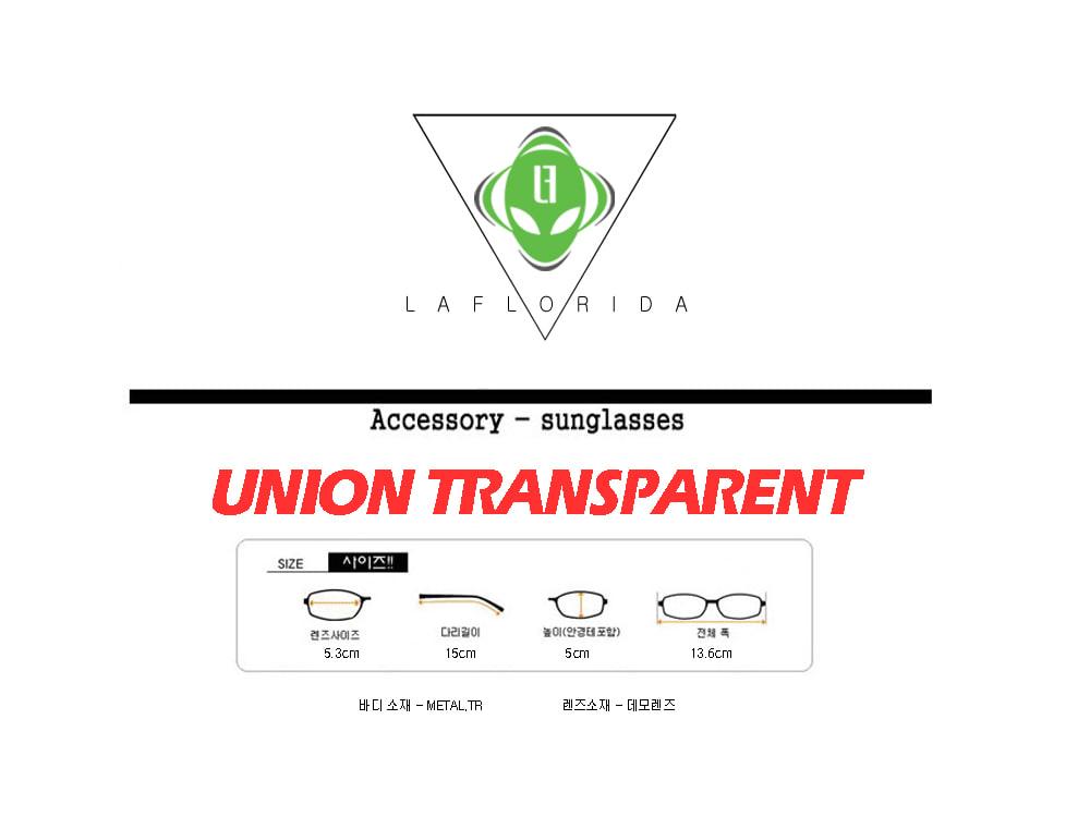 라플로리다(LAFLORIDA) 유니온 투명 골드 안경테