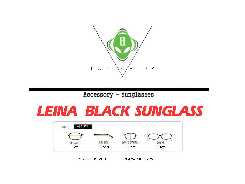라플로리다(LAFLORIDA) 레이나 블랙 선글라스