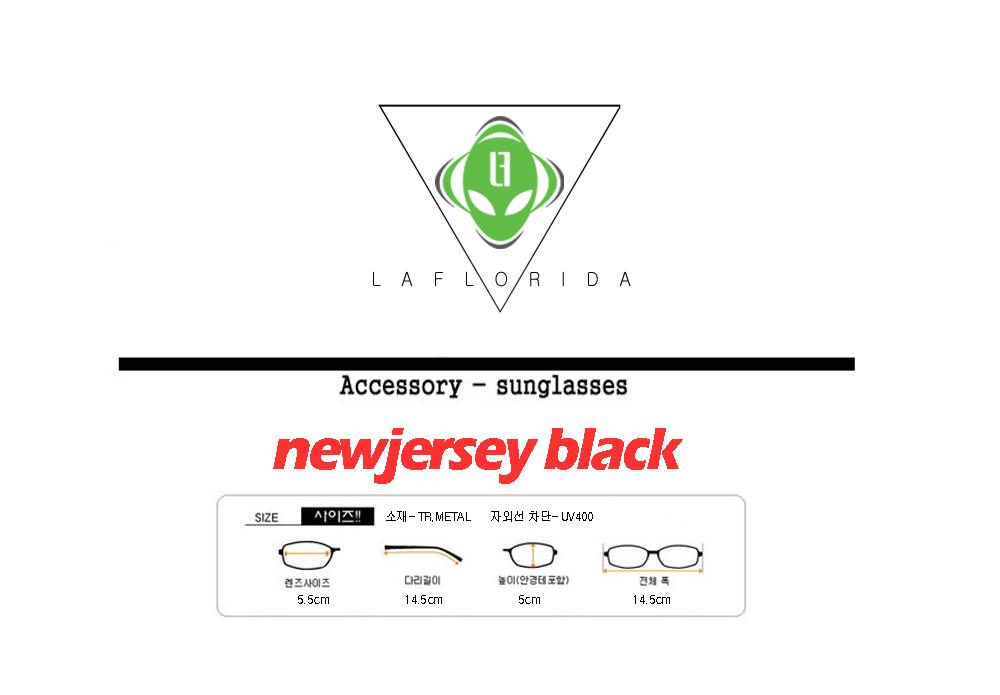 라플로리다(LAFLORIDA) [라플로리다] 뉴져지 블랙 선글라스