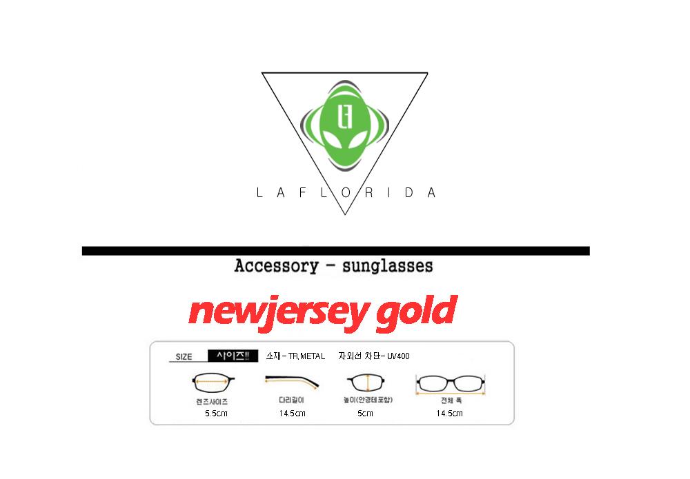 라플로리다(LAFLORIDA) [라플로리다] 뉴져지 골드 미러렌즈 선글라스
