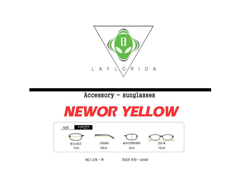 라플로리다(LAFLORIDA) 뉴올 옐로우 틴트  렌즈 선글라스