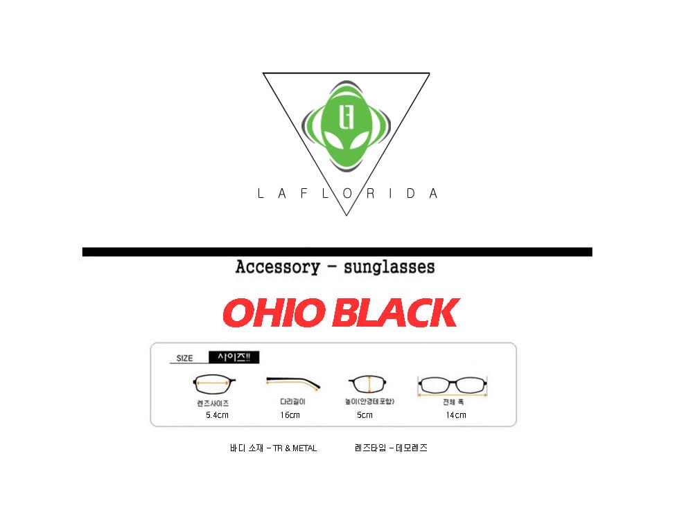 라플로리다(LAFLORIDA) 오하이오 투브릿지 블랙 안경체인 세트 블루라이트 차단 렌즈 적용